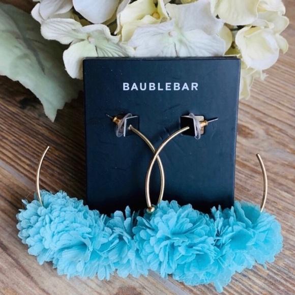 BaubleBar Aqua Hoop Earrings Boutique